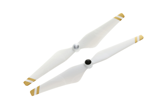 DJI 9450 Self-tightening Rotor (composite hub, white with gold stripes) 1 pair