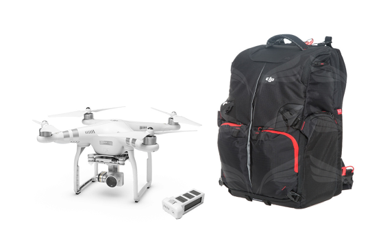 DJI Phantom 3 Advanced + Extra battery + Manfrotto Backpack