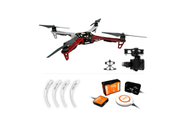 DJI Naza-M v2.0 +GPS+F450 ARF Kit+Landing Skid+Mounting Adapter for F450 Part51 + H3-3D (standard)
