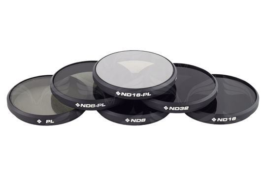 PolarPro filters OSMO / Inspire 1 (PL, ND8, ND16, ND32, ND8/PL, ND16/PL) 6-Pack