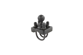 RAM double U-Bolt Base with 1'' Ball