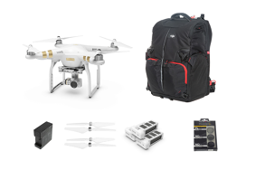 DJI P3 Professional + PolarPro filters + 3x Battery + HUB + 2x Props + Manfrotto Bacpack