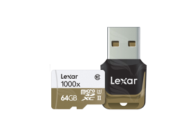 Lexar 64GB microSDHC UHS-II 1000x with USB Reader (Class 10) U3