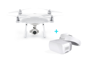 DJI Phantom 4 Advanced dronas + DJI Goggles akiniai