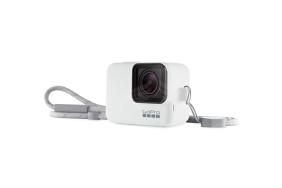 GoPro baltas silikoninis įdėklas su virvele / Sleeve + Lanyard (White)