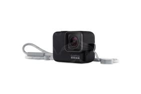 GoPro juodas silikoninis įdėklas su virvele / Sleeve + Lanyard (Black)