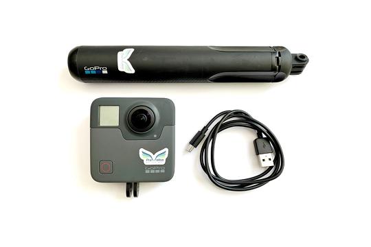 Naudota GoPro Fusion 360 kamera