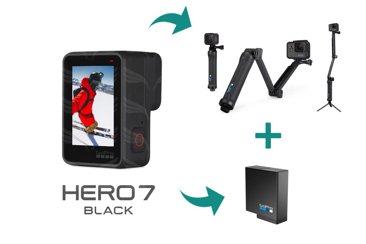 8e21c870daf AKCIJA: GoPro HERO7 Black kamera + 3-way lazda + papildoma baterija ...
