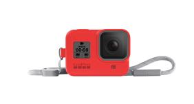 GoPro HERO8 silikoninis įdėklas su virvele / Sleeve + Lanyard (Firecracker Red)