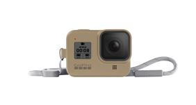 GoPro HERO8 silikoninis įdėklas su virvele / Sleeve + Lanyard (Sand)