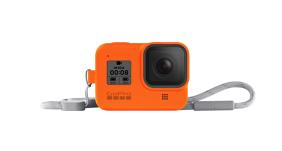 GoPro HERO8 silikoninis įdėklas su virvele / Sleeve + Lanyard (Hyper Orange)