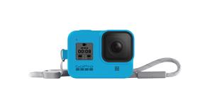GoPro HERO8 silikoninis įdėklas su virvele / Sleeve + Lanyard (Bluebird)