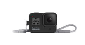GoPro HERO8 silikoninis įdėklas su virvele / Sleeve + Lanyard (Blackout)