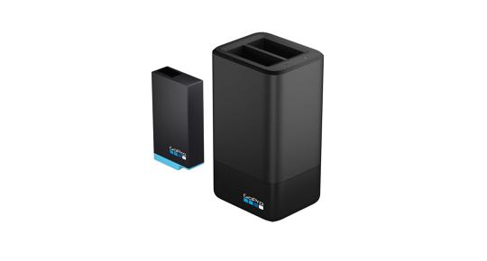 GoPro MAX dvigubas baterijų įkroviklis + baterija