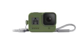 GoPro HERO8 silikoninis įdėklas su virvele (žalias) / Sleeve + Lanyard (Turtle Green)