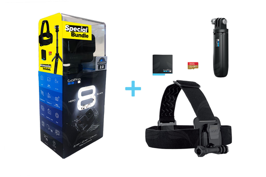 GoPro Hero8 Black šventinis pasiūlymas / Holiday Promo Bundle 2019