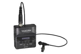 Tascam DR-10L nešiojamas garso rašiklis su prisegamu lavalier mikrofonu / Micro Linear PCM recorder