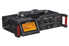 Tascam DR-70D 4 takelių rašiklis / 4-track PCM Recorder for DSLR Video Production