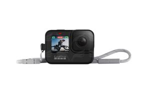 GoPro HERO9 kameros silikoninis įdėklas su virvele (juodas) / Sleeve + Lanyard (Black)