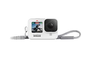 GoPro HERO9 kameros silikoninis įdėklas su virvele (baltas) / Sleeve + Lanyard (White)