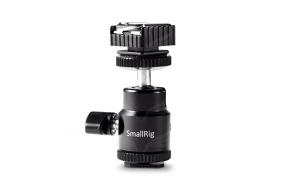 SmallRig 1639 tvirtinimas su rutuline galva / Ballhead with 2x Cold Shoe