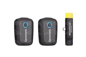 Saramonic Blink 500 B6 (TX+TX+RX UC) bevielė garso įrašymo sistema su USB-C jungtimi / 2.4 GHz wirelss system USB-C