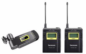 Saramonic UWMIC9 (TX9+TX9+RX-XLR9) prisegami bevieliai mikrofonai su imtuvu