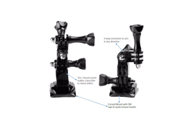 PRO-mounts priekinis ir šoninis laikiklis su lipduku / Front & Side Mount