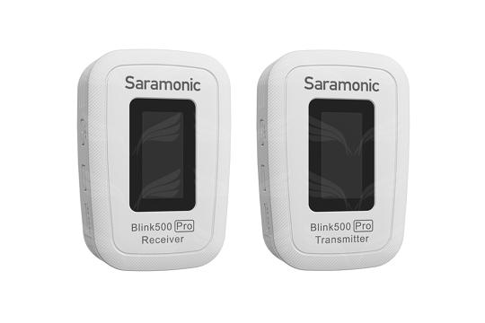 Saramonic Blink 500 Pro B1 (TX+RX) bevielė garso įrašymo sistema / White 2,4GHz wireless w/3,5mm