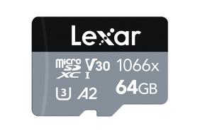 Lexar Pro 1066x microSDHC/microSDXC UHS-I (Silver) R160/W70 64Gb atminties kortelė