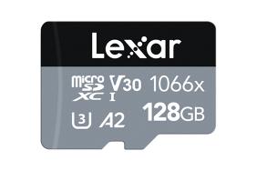 Lexar Pro 1066x microSDHC/microSDXC UHS-I (Silver) R160/W120 128Gb atminties kortelė
