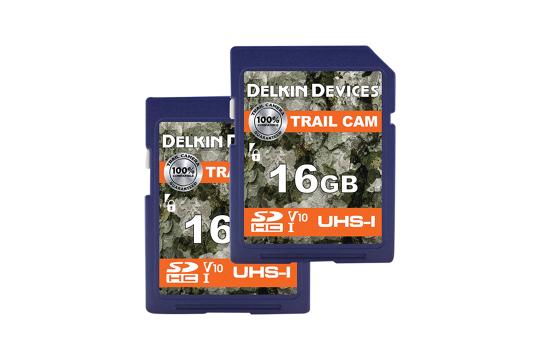 Delkin Trail Cam SDHC (v10) R100/W30 16Gb (2pk)