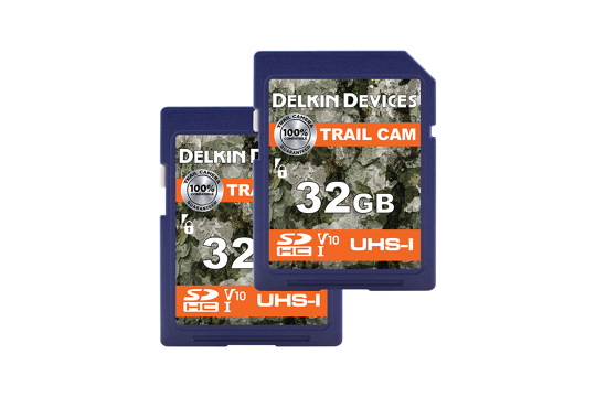 Delkin Trail Cam SDHC (v10) R100/W30 32Gb (2pk)