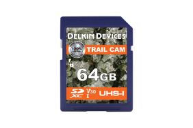Delkin Trail Cam SDXC (v30) R100/W50 64Gb