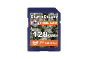 Delkin Trail Cam SDXC (v30) R100/W75 128Gb