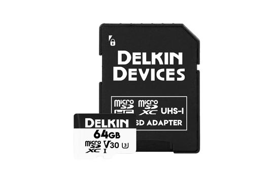 Delkin Trail Cam Hyperspeed microSDHC (v30) R100/W75 64Gb