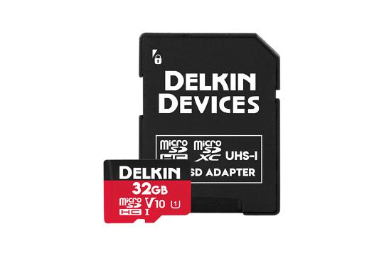 Delkin Trail Cam Action microSDHC (v10) R100/W30 32Gb (2pk)