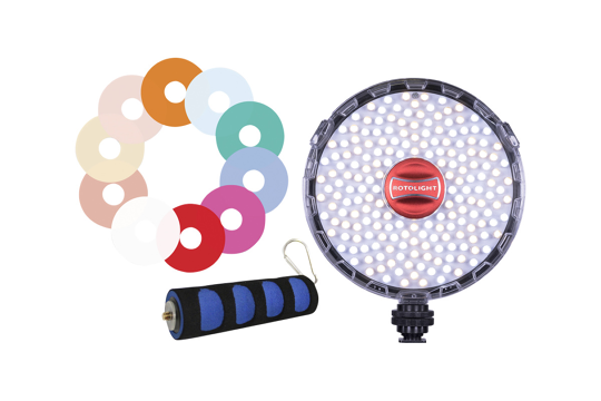 Rotolight Neo II with Grip And FX Filter Pack