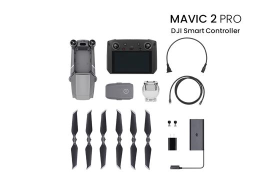 DJI Mavic 2 Pro dronas su išmaniuoju valdymo pultu