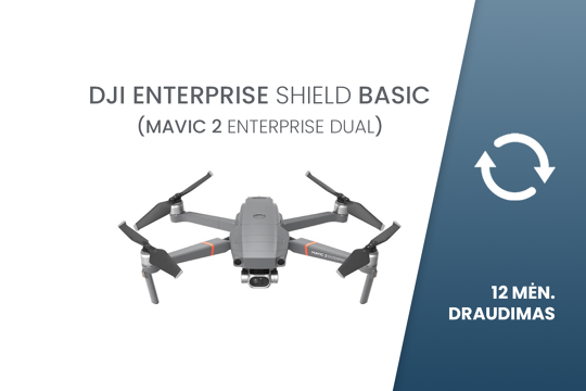 DJI Enterprise Shield Basic draudimas Mavic 2 DUAL dronui