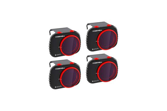 Freewell Bright Day 4 filtrų komplektas (ND8PL, ND16PL, ND32PL, ND64PL) DJI Mini/Mini2 dronams