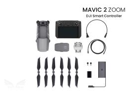 DJI Mavic 2 Zoom dronas su išmaniuoju valdymo pultu