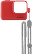 GoPro HERO7/6/5 silikoninis dėklas su virvele / GoPro Sleeve + Lanyard Firecracker Red