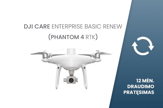 DJI Care Enterprise Basic Renew (Phantom 4 RTK) EU 12 mėn. draudimo pratęsimas