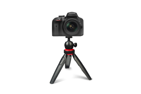 Active Mini trikojis su nuotoliniu valdymo pulteliu / Tripod with Wireless Bluetooth Shutter Remote & Camera Mount TP-ACT5