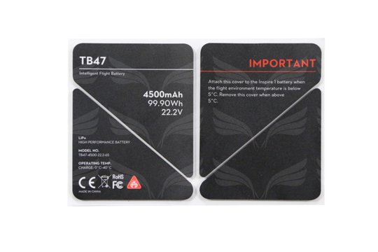 DJI Inspire 1 termo lipdukai / TB47 Battery Insulation Sticker / Part 50