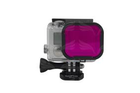 PolarPro HERO4/3 rausvas filtras / Magenta Filter