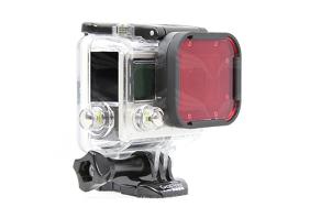 PolarPro HERO4/3 paviršinio nardymo filtras / Snorkel Filter