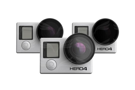 PolarPro filtrai v2.0 GoPro Frame (PL, ND4, ND8) 3-Pack