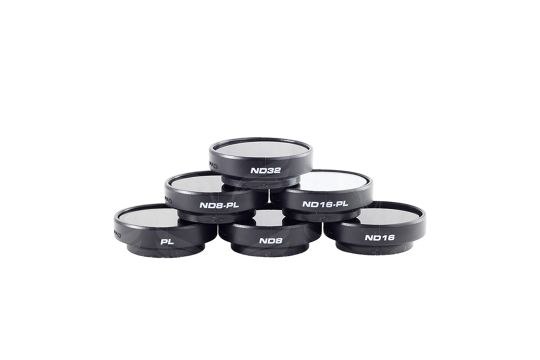 PolarPro HEOR4/3 filtrai v2.0 (PL, ND8, ND16, ND32, ND8/PL, ND16/PL) 6-Pack